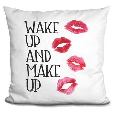 Jadiel Wake Up and Make Up Throw Pillow