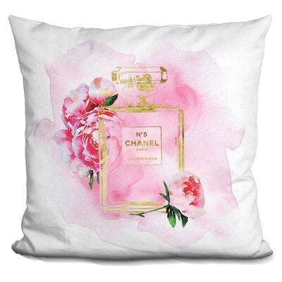 Melia Perfume Flowers Full Watercolor Throw Pillow