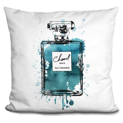 Melia Perfume Bottle Throw Pillow Color: Dark Teal