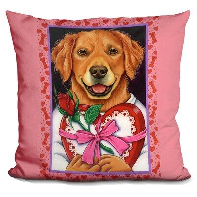 En Retriever Chocolate Box Throw Pillow