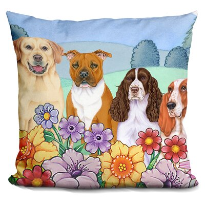 Great Indoor/Outdoor Village Throw Pillow