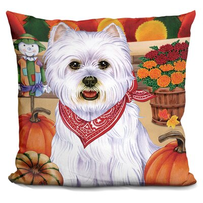 Harvest Westie Throw Pillow
