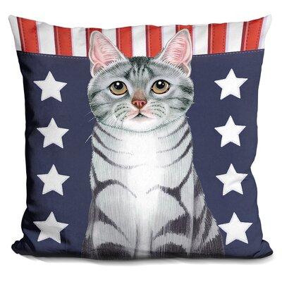 Patriot Cat Throw Pillow