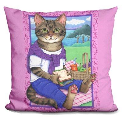Picnic Cat Throw Pillow