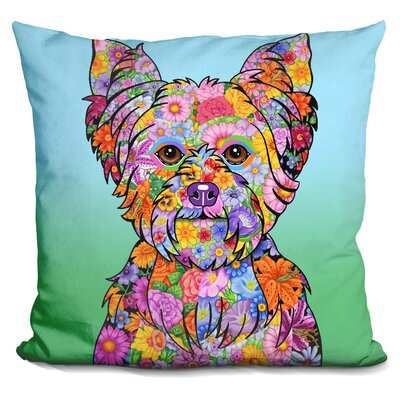 Yorkie Puppycut Throw Pillow