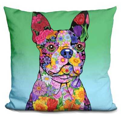 Cordray Flowers Terrier Throw Pillow