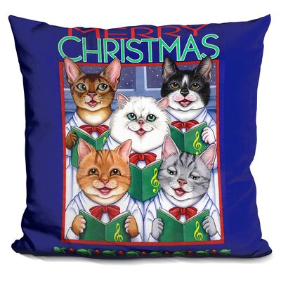 Core Xmas Cat Chorus Throw Pillow