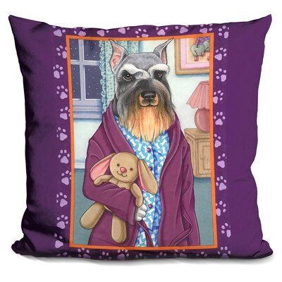 Schnauzer Bedtime Throw Pillow