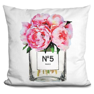 Melia Perfume Vase Peonies Throw Pillow