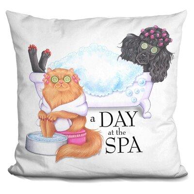 Spa Poodle Persian Throw Pillow