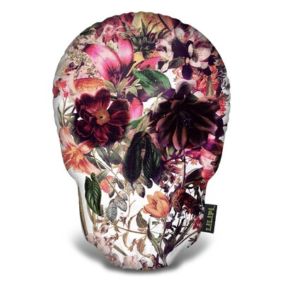 New Skull Light Isolated Throw Pillow