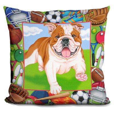 Sports Bulldog Throw Pillow