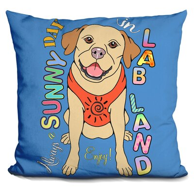 Labrador Graphic Style Throw Pillow