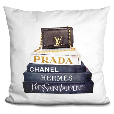 Janousek Book Stack Purse Throw Pillow