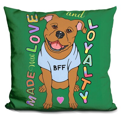 Pit Bull Graphic Style Throw Pillow