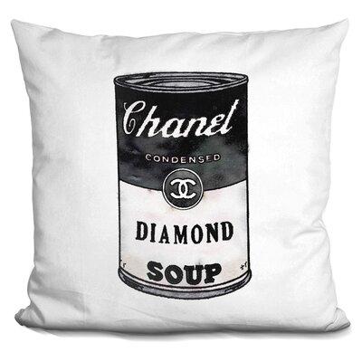 Jarrell Diamond Soup Throw Pillow