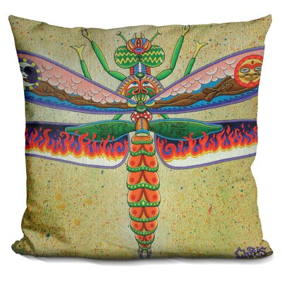 Heaven N Hell Dragonfly Throw Pillow