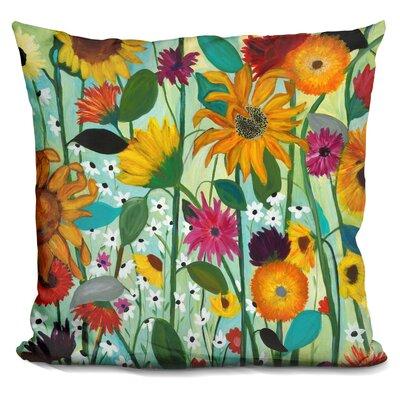 Schambach Sunflower House Throw Pillow