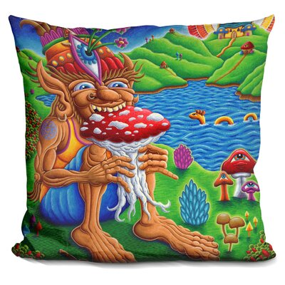 Muncher of Mushroomland Throw Pillow