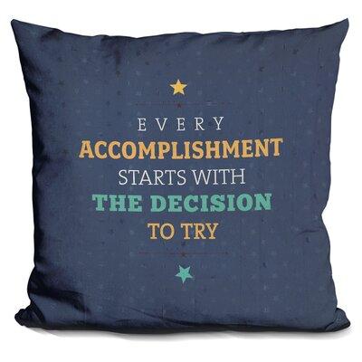 Giannini Every Accomplishment Throw Pillow