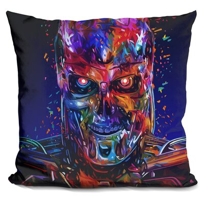 T800 Terminator Throw Pillow