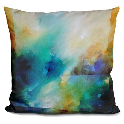 Pekalongan Aqua Breeze Throw Pillow