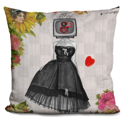 Candy Girl Throw Pillow