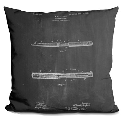 Casto Fountain Pen Throw Pillow