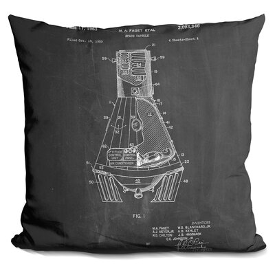 Space Capsule Throw Pillow