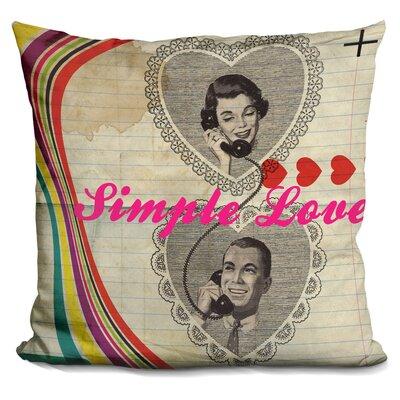 Simple Love Throw Pillow