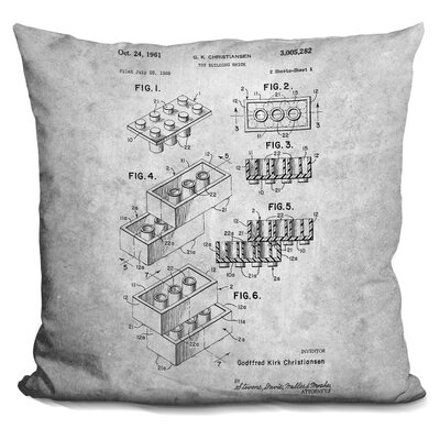 Chason Toy Brick Throw Pillow Color: Gray