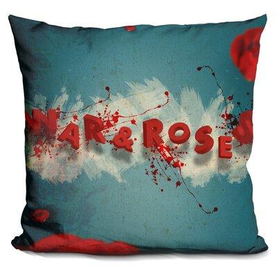 War and Roses Throw Pillow