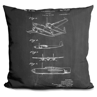 Chalmers Hughes Airplane Throw Pillow