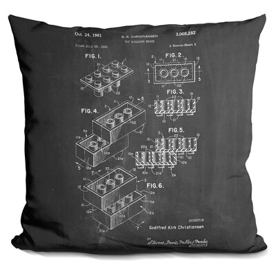 Chason Toy Brick Throw Pillow Color: Black