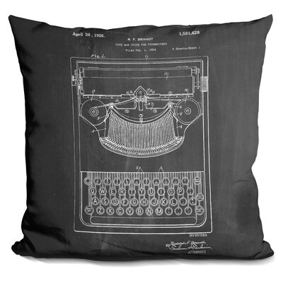 Chasse Type Bar Throw Pillow