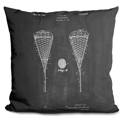 Cana Lacrosse Kit Blueprint Throw Pillow Color: Black