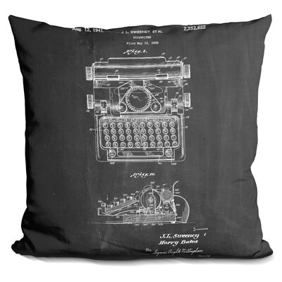 Chatham Square Typewriter Throw Pillow