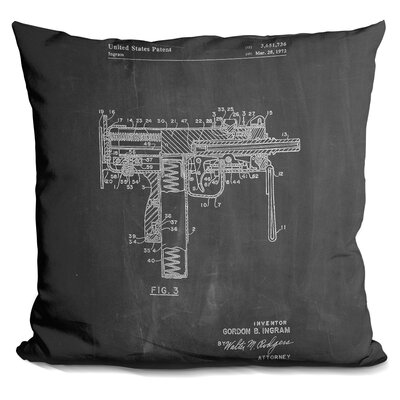 Chancy Mac Gun Throw Pillow