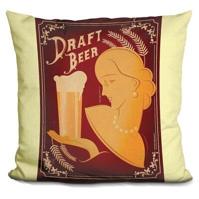 Draft Beer Throw Pillow