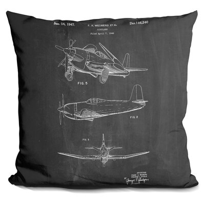 Cassano Airplane Throw Pillow