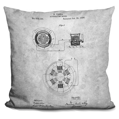 Cassel Alternating Motor A Throw Pillow Color: Gray