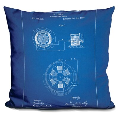 Cassel Alternating Motor A Throw Pillow Color: Blue