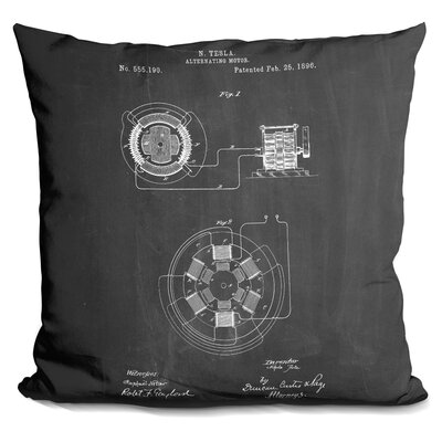 Cassel Alternating Motor A Throw Pillow Color: Black