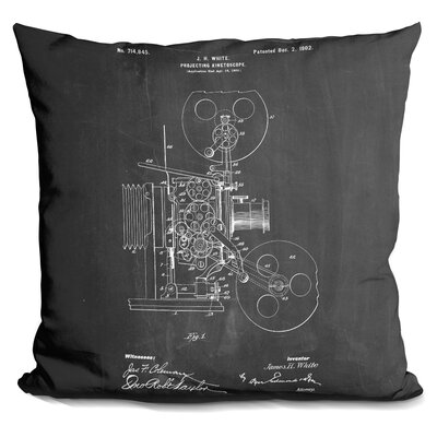 Chaput Projecting Kinetoscopech Throw Pillow