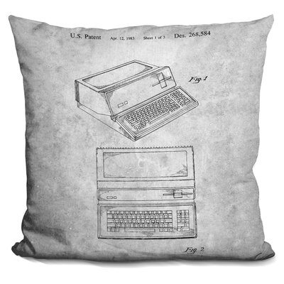 Chau Typewriter Blueprint Throw Pillow
