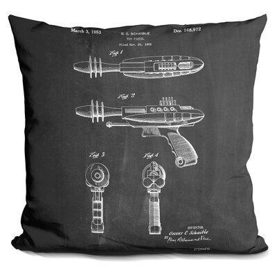 Charboneau Ray Gun Throw Pillow