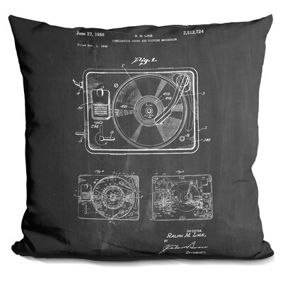 Charest Record Player Throw Pillow