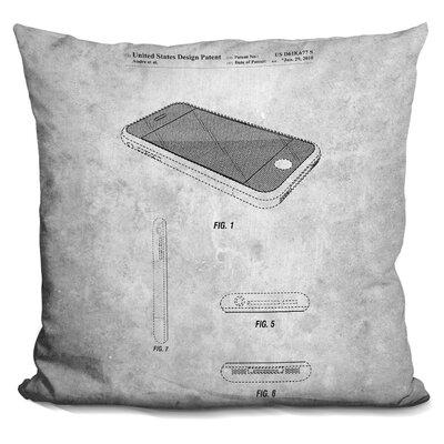 Chavarria Iphone Blueprint Throw Pillow 7BC0F4E30DEA45E799B7D9B5156730A9