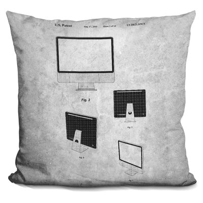 Chaves Apple Computer Print Throw Pillow