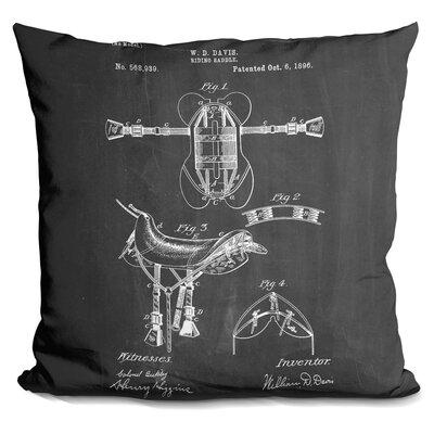 Charette Riding Saddle Throw Pillow